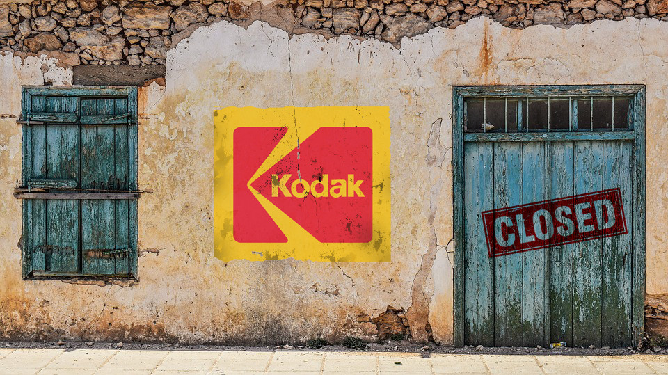 A Kodak não soube inovar os próprios produtos que ela criou.